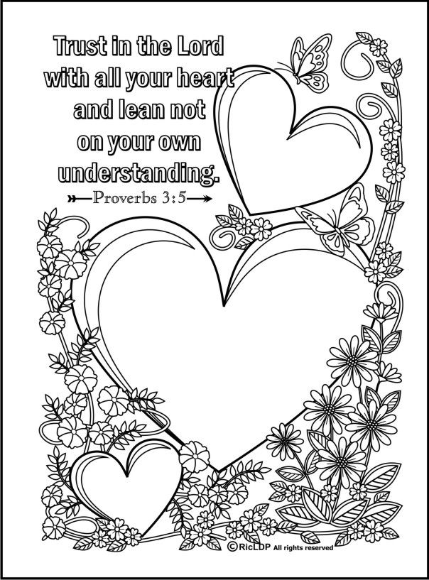 427 best Coloring Pages images on Pinterest Adult coloring, Bible - new love heart coloring pages to print
