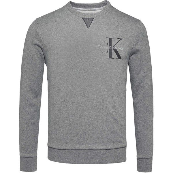 Calvin Klein Haxo Logo Sweatshirt (1 360 ZAR) ❤ liked on Polyvore featuring men's fashion, men's clothing, men's hoodies, men's sweatshirts, mens crewneck sweatshirts, mens crew neck sweatshirts, mens sweatshirt hoodies, mens sweatshirts and mens hooded sweatshirts