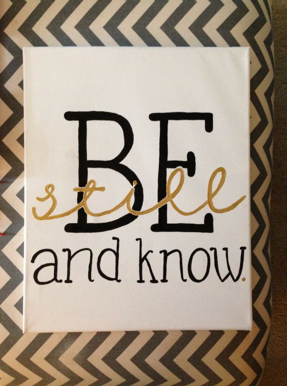 Be Still and Know Canvas Wall Art, Psalm 46:10, Bible verse on canvas