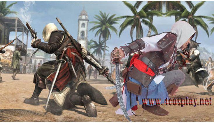 Assassin's Creed IV 4 Black Flag Edward Kenway Cosplay Custome