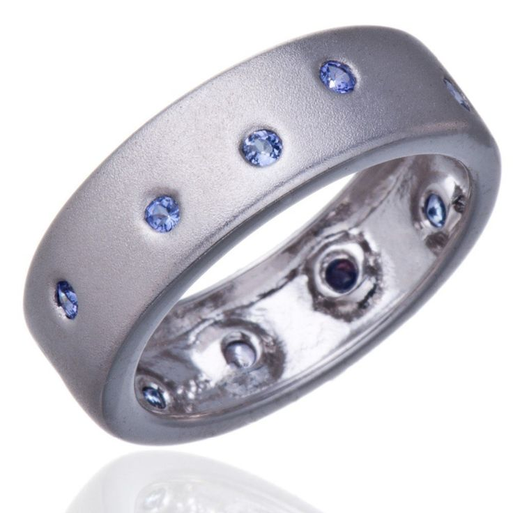100% Genuine Tanzanite Solid 925 Sterling Silver Band Ring