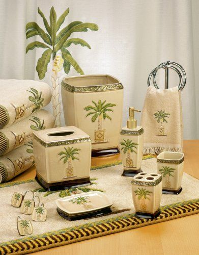 Palm Tree Bathroom Decor Ideas Bathroomist: 29 Best Palm Tree Shower Curtain And Bath Accessories