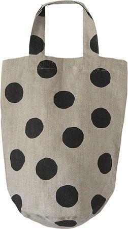 linen dotty bag.