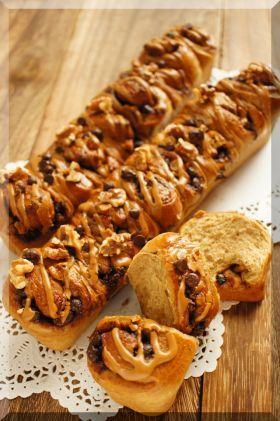 「*カフェオレ・チョコチップのちぎりパン♪」cherry♪   お菓子・パンのレシピや作り方【corecle*コレクル】