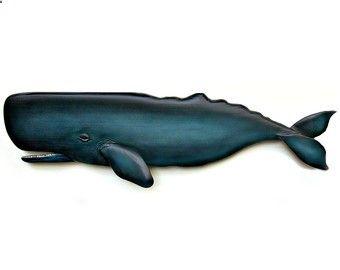 ESPERMA 60 pulgadas de talla de madera, decoración para el hogar de la ballena, decoración de la pared, la pared colgante, Nantucket, ballena de Cape Cod, Nueva Inglaterra decoración, regalo náutico