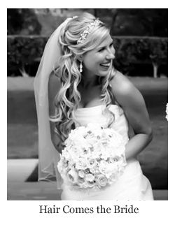 romantic bridal hair wavy half up half down with headband