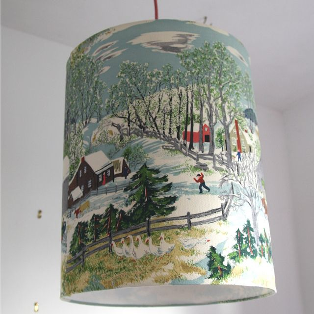 245 best lampshades images on pinterest lamp shades lampshades what a fun lampshade to have for the winter aloadofball Gallery