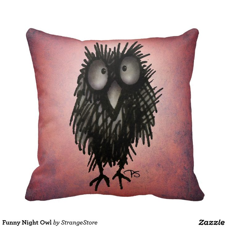 Funny Night Owl Throw Pillows from #StrangeStore