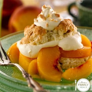 Almond Peach Shortcake by The Power of Family Meals