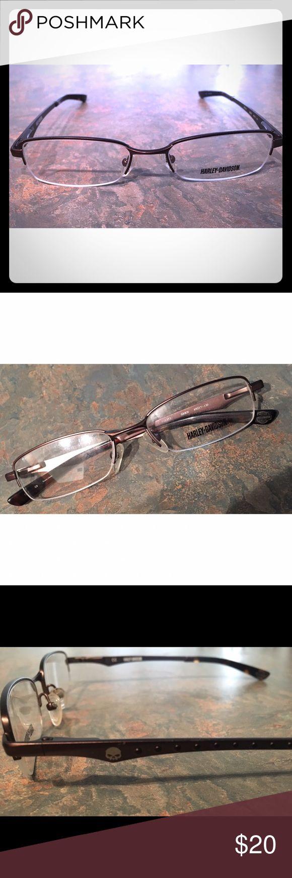 Harley Davidson frames Metal half rim Harley Davidson prescription ready optical frames Harley-Davidson Accessories Glasses