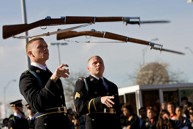 Army Drill Team Rifle Toss