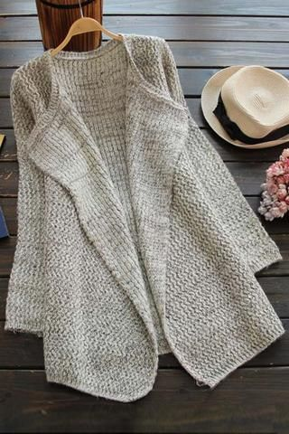 Cupshe Call Me Yours Big Lapel Long Cardigan