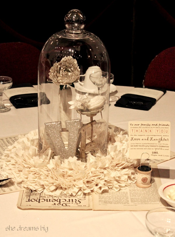 Centerpiece under the glass dome pinterest disney