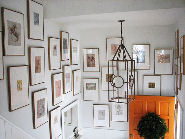 Wall and lantern: Galleries, Idea, Orange By, Gallery Walls, Pure Style, Entryway