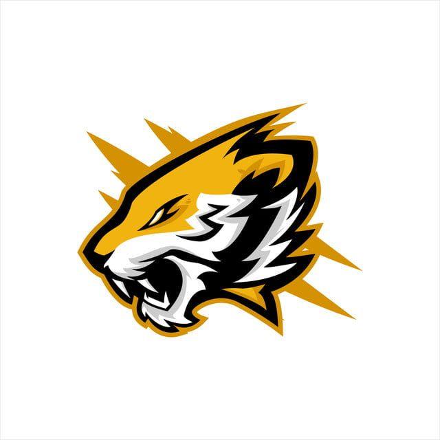 Tiger Head E Sports Logo Design Logo Hewan Gambar Serigala Ilustrasi Vektor