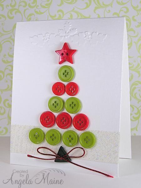 Arbolito de navidad hecho con botones de colores!