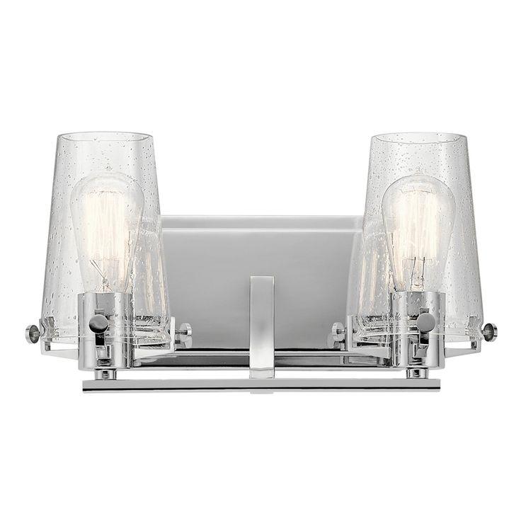 Kichler Alton 2-Light 8-in Chrome Cylinder Vanity Light Bar $186