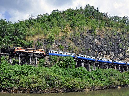 awesome Thai-Burma Railway (Death Railway), near Kanchanaburi, Thailand