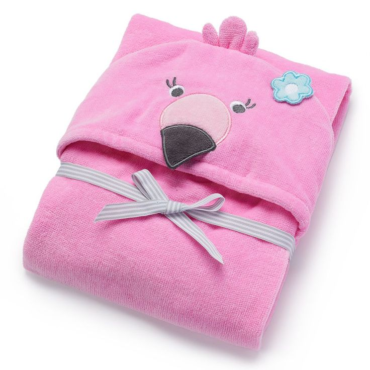 Baby Carter's Animal Hooded Terry Towel, Pink