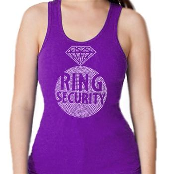 "This ""Ring Security"" Bridal Party Tank Top is an exclusively design from The House of Bachelorette! Perfect for a Bachelorette Party, Engagement Party or Bridal Shower!"