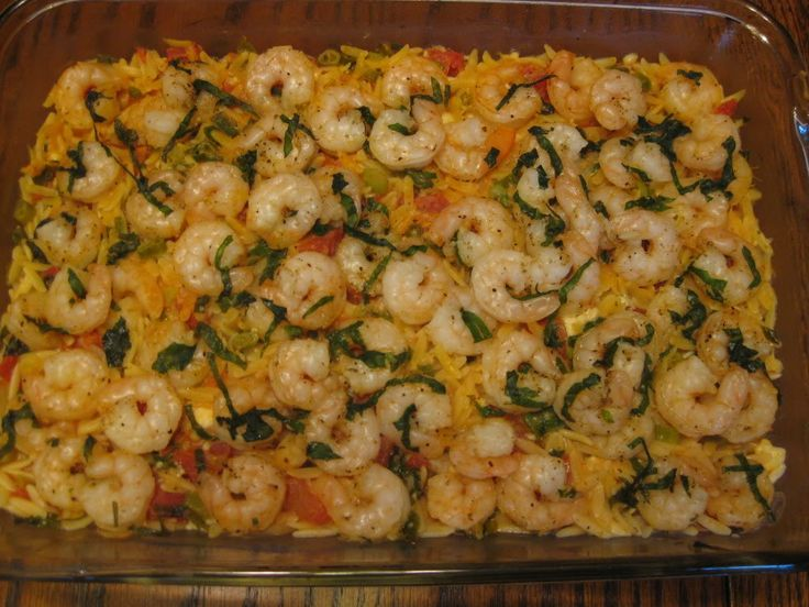 Basil Shrimp with Feta and Orzo » Nutmeg Notebook