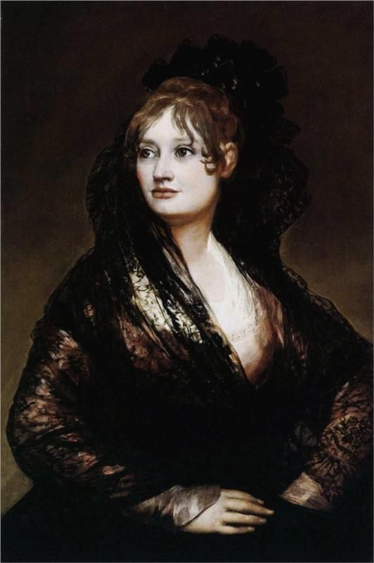 Dona Isabel de Porcel - Francisco de Goya. Mum did a version of this when she was learning oil painting, and I always loved it.