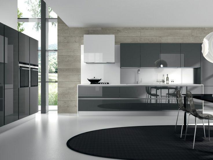 cocinas blancas y grises de diseño moderno