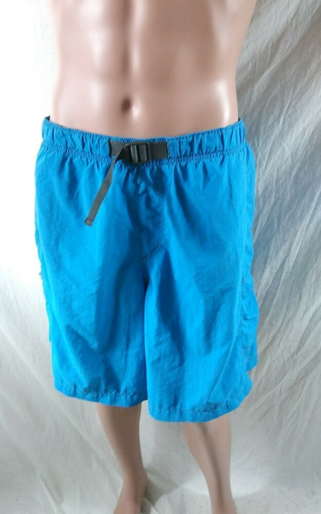 b5346cc350507 Columbia Size XXL Omnishade Swim Shorts Lined Trunk Light Blue Swimming  Briefs #Columbia #Trunks