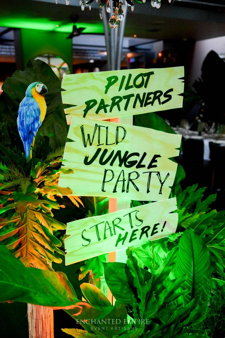 We created a jungle-like atmosphere with the use of greenery and uplighting in green and golden hues. Props that complimented the styling perfectly, a large cheetah and tropical birds scattered throughout, rustic styled signage. Tables lined with Cheetah print table runners, gold and willow green tealights with willow pintuck napery. Each table had a centerpiece of lush tropical leaves cascading from vases. Corporate Theming. Youtube…