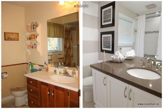15 best images about bathroom remodel before and after on - Before and after small bathroom remodels ...