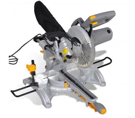 Schuivende verstekzaag 1700 Watt met laser en 210mm blad