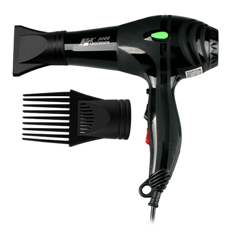 High power professional hair dryer with comb.