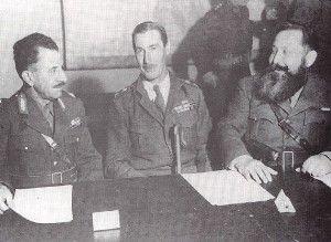 """Η Συμφωνία της Καζέρτας ήταν μια ιστορική συμφωνία που υπογράφηκε στις 26 Σεπτεμβρίου 1944 στη κωμόπολη Καζέρτα της Ν. Ιταλίας, περί το τέλος του Β' Παγκοσμίου Πολέμου μεταξύ της """"ελεύθερης"""" ελληνικής κυβέρνησης του Καΐρου, που είχε στο μεταξύ μεταφερθεί στη πόλη αυτή, αφενός, και αφετέρου των ελληνικών αντιστασιακών οργανώσεων (ΕΑΜ και ΕΔΕΣ) που δρούσαν τότε στην Ελλάδα."""