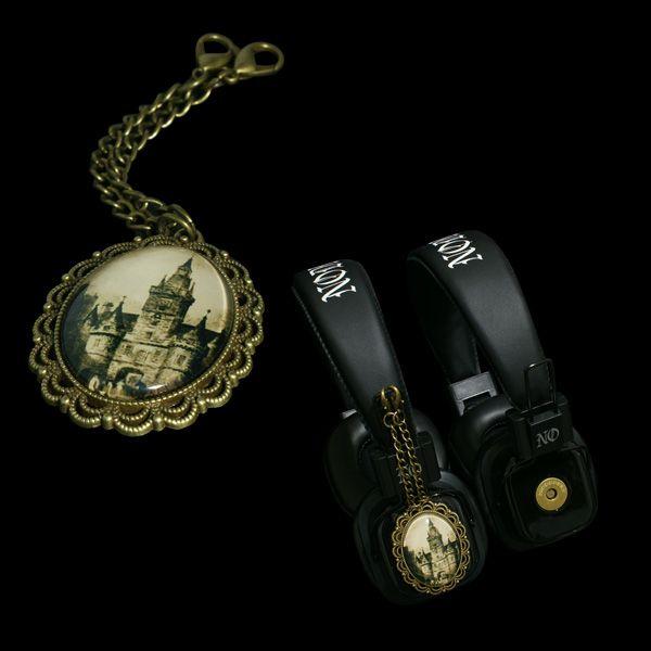 Headphones with attachable pendants Limited edition  http://noddders.com/product/vampire-castle-headphones/  #subculture #victorian #steampunk #creepy #dark #horror #castle #retro #vintage #comics #cartoon #alternative #underground #collection #collectibles #style #stylish #music #headphones #pendants