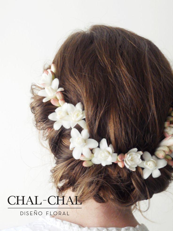 #Tocado de #novia   #CHAL-CHAL #chalchalflores