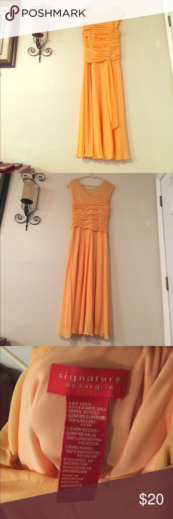 Signature by sangria Orange sherbet colored dress size 16 Dresses Wedding
