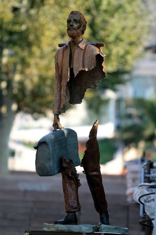 Скульптурные композиции Бруно Каталано (Bruno Catalano)-вояжоры
