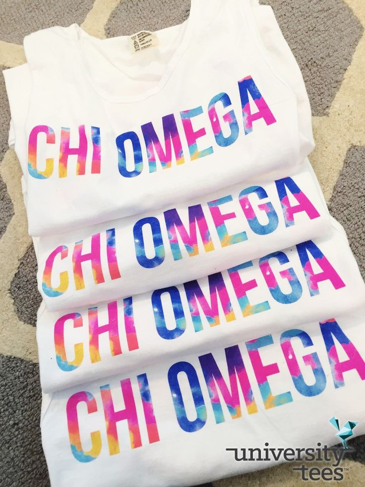 livin' life in technicolor | Chi Omega | Made by University Tees | universitytees.com
