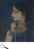 Ganesh Pyne (b. 1937), Untitled, tempera & gouache on board, 2009