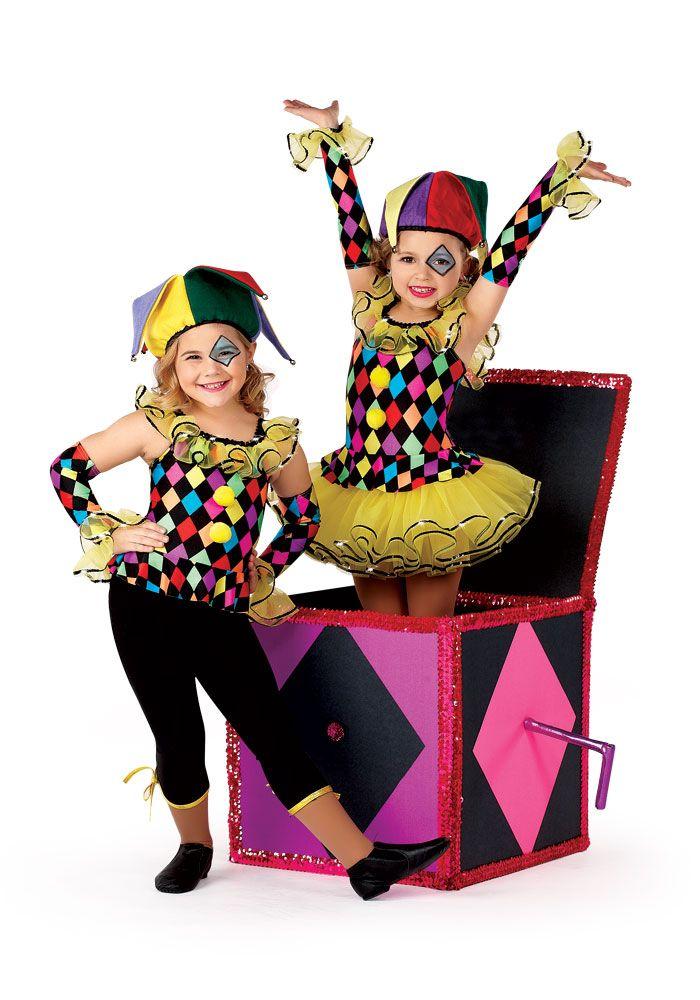 H369 - Jack In The Box Leotard #dancecostume #recitalcostume #circustheme