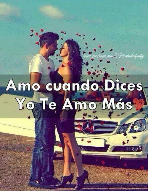Amo cuando dices yo te amo más. #amor #love