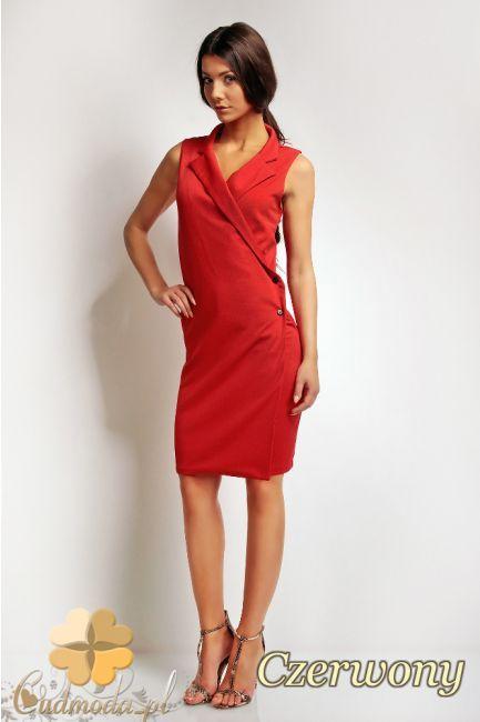 Kopertowa sukienka mini na zakładce marki Karen Styl.  #cudmoda #sukienki #moda #ubrania #odzież
