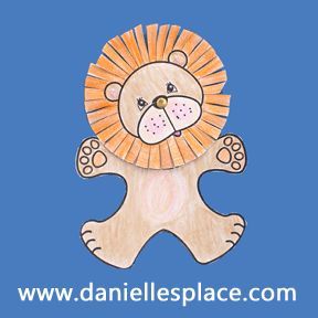 lion with moveable head Bible Craft for Sunday School .daniellesplace.com  sc 1 st  Pinterest & 12 best Lion Crafts for Kids images on Pinterest | Crafts for kids ...