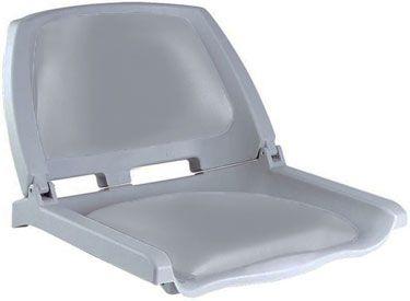 Сиденье для катера Folding (75109G)  Компактное кресло, снабженное складывающейся спинкой из пластика и мягкими виниловыми пластинами в местах контакта с телом. Сиденье может быть установлено на большинство моделей лодок. Крепление осуществляется при помощи четырех саморезов на ровном участке палубы. Совместно с креслом могут использоваться дополнительные аксессуары:• подстаканник для кресла - 75135;• поворотная платформа для кресла - 115026;• стойка под кресло 8WD1250, 8WD1251 или 8WD1255…