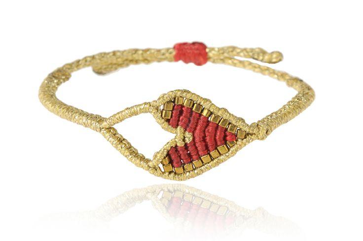 Zoe Kompitsi | Red Heart Bracelet