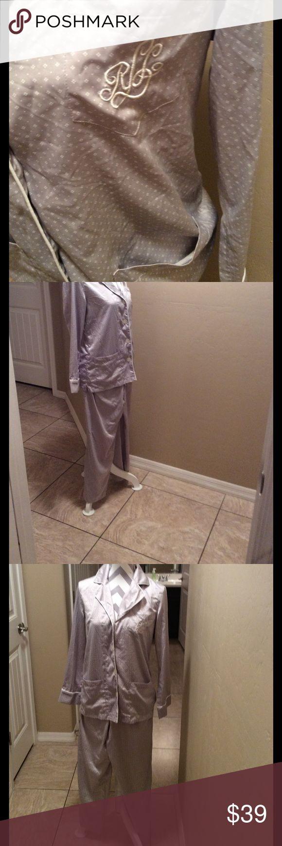 Ralph Lauren. Pajamas size small  light gray Big pockets in front. Size smaii 100 % polyester rauph lauren Intimates & Sleepwear Pajamas