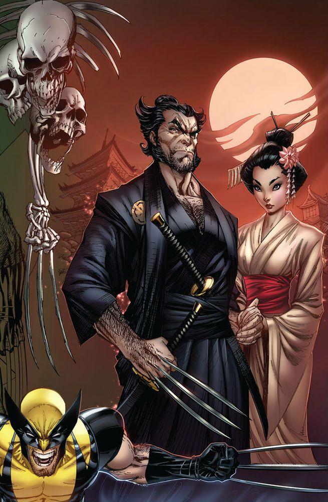Wolverine and Mariko Yashida by J.Scott Campbell