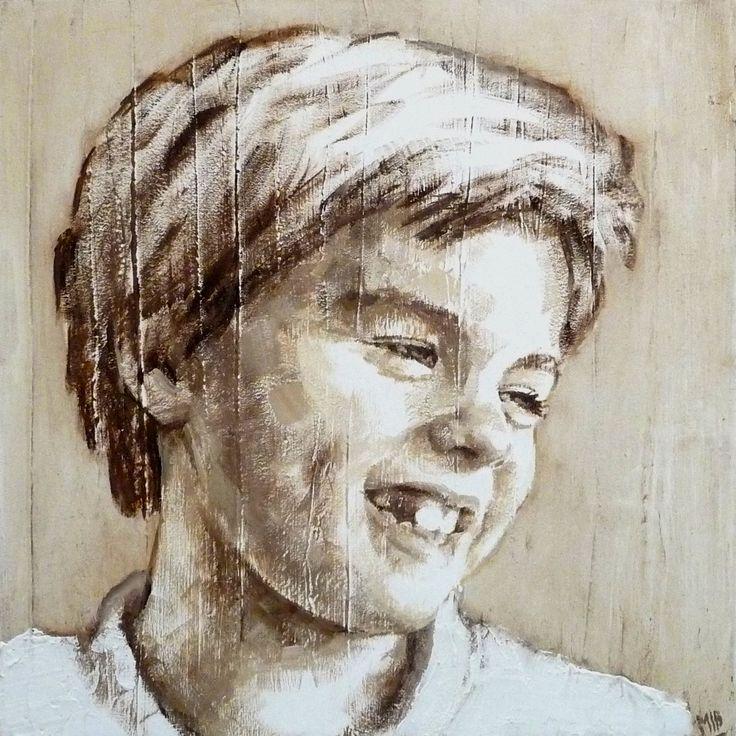 niño retrato 40 x 40 M. Isabel Barros Alcalde