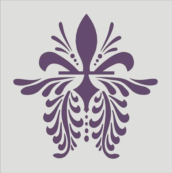 Stencil Flourish design 13 fleur de lis image by oklahomastencil, $8.95