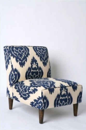 Indigo Ikat Slipper Chair eclectic chairsUrbanoutfitters, Urban Outfitters, Blue, Slippers Chairs, Livingroom, Living Room, Indigo Ikat, Bedrooms, Accent Chairs